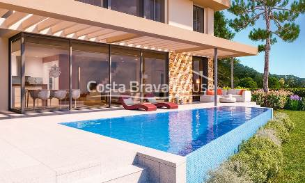 New modern design house for sale in Begur Sa Riera, with swimming pool and impressive sea views